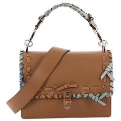 Fendi Kan I Bow Handbag Whipstitch Leather Medium