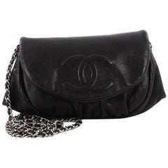 Chanel Half Moon Wallet on Chain Caviar