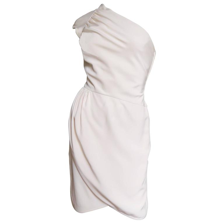 Valentino Boutique One Shoulder Wrap Dress For Sale