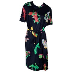 Multicolor Vintage Leonard Paris Printed T-Shirt Dress