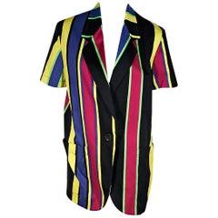Multicolor Vintage Genny Striped Cotton Jacket