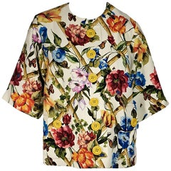 Dolce & Gabbana Multicolor Floral-Printed Jacket