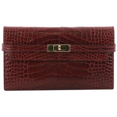 Hermes Kelly Wallet Matte Alligator Long
