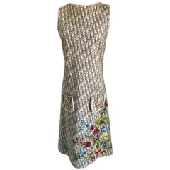 Christian Dior Dress with Logo and Embroidery Size US Size 8