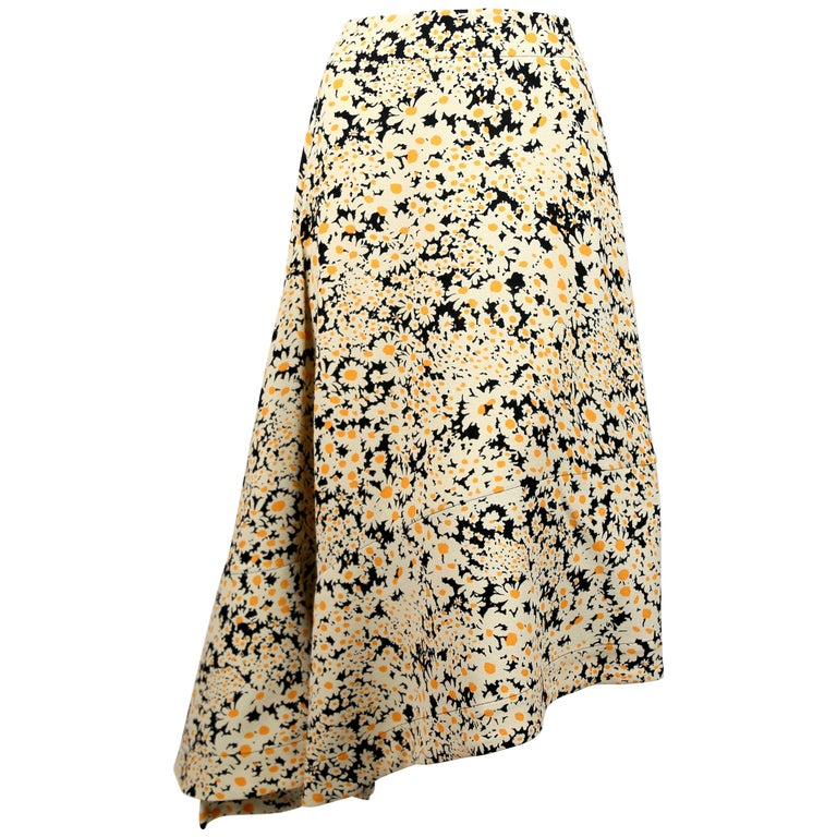 c1eed59b21c5 Celine by Phoebe Philo asymmetrical floral runway skirt For Sale at ...
