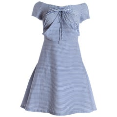 Vivienne Westwood blue and white striped cotton sun dress, circa 1996 - 1999