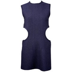 CELINE by PHOEBE PHILO boucle runway tunic with cut-outs