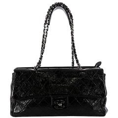 Chanel Ritz Flap Bag Quilted Patent Large