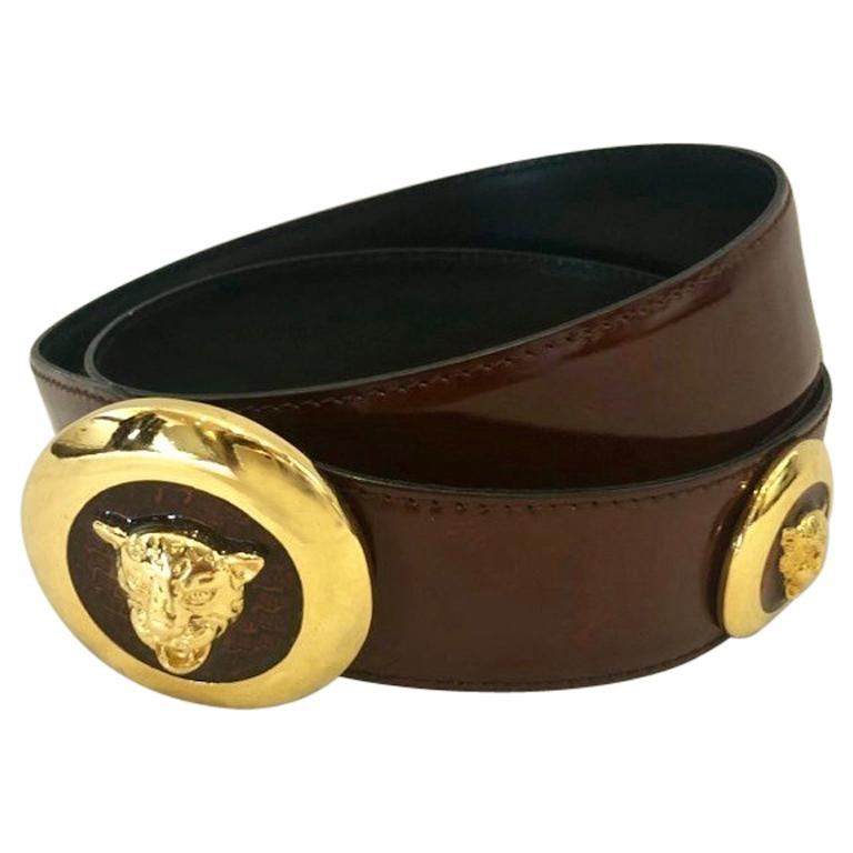 Vintage Escada Tiger Head Belt