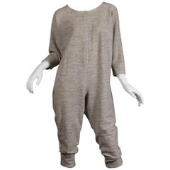 Rare Late 1970s/ Early 80s Album by Kenzo Vintage Gray Avant Garde Jumpsuit