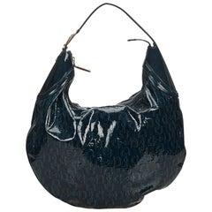 Gucci Green x Dark Green Horsebit Glam Patent Leather Bag