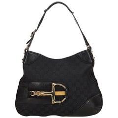 Gucci Black Guccissima Jacquard Shoulder Bag