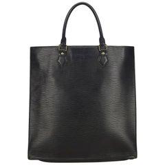 Louis Vuitton Black Epi Sac Plat PM