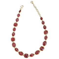 Goossens Paris Berry Tinted Rock Crystal Necklace