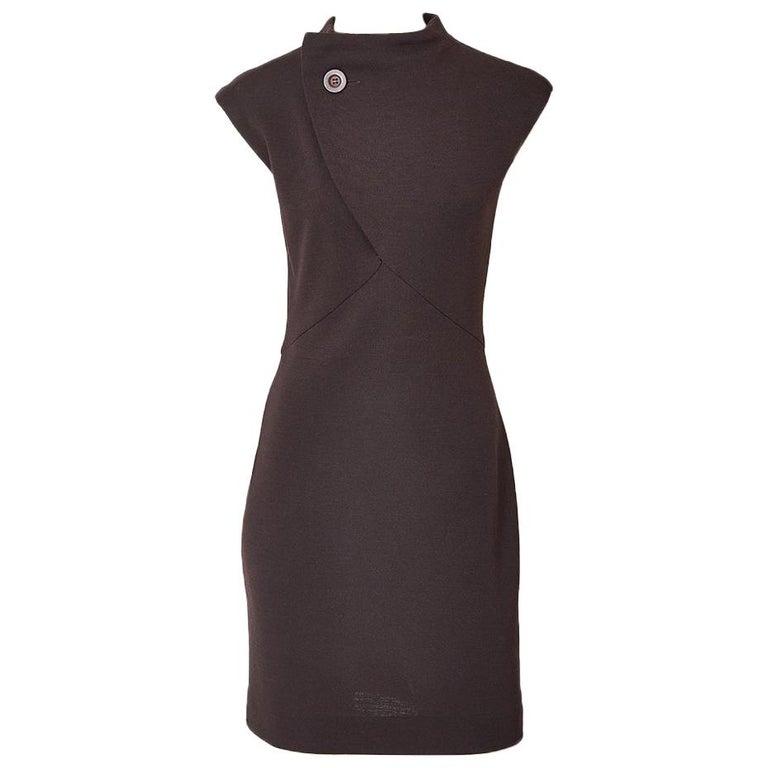 Geoffrey Beene Wool Jersey Day Dress For Sale