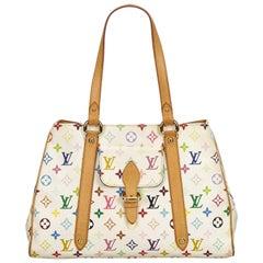 Louis Vuitton White x Multi Monogram Multicolore Aurelia MM