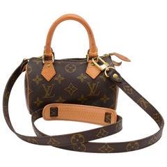 Vintage Louis Vuitton Mini Speedy Sac HL Monogram Canvas Hand Bag + Strap
