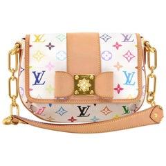 Louis Vuitton Patty White Multicolor Monogram Canvas Studs Hand Bag