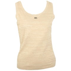 Chanel Beige Cotton Knitted Tank Top