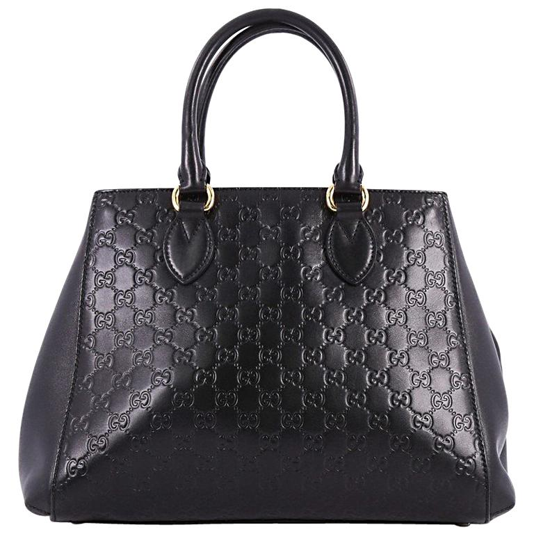 5f5fdf5079f Gucci Soft Signature Convertible Top Handle Bag Guccissima Leather Large  For Sale