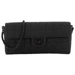 Chanel Travel Line Flap Bag Quilted Nylon East West
