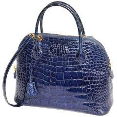 Hermès Fabulous Blue Alligator Bolide Handbag