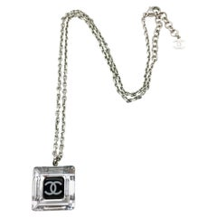 Chanel Square Logo Pendant Necklace - 2005