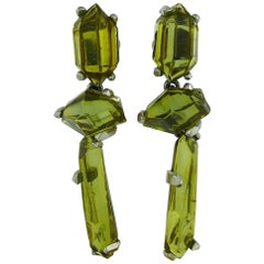 Yves Saint Laurent YSL Goossens Vintage Prism Dangling Earrings