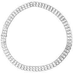 Deco glass necklace