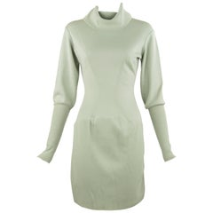 Alaia Vintage Light Green Knit Dress