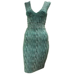 Herve Leger Print Bandeau Dress