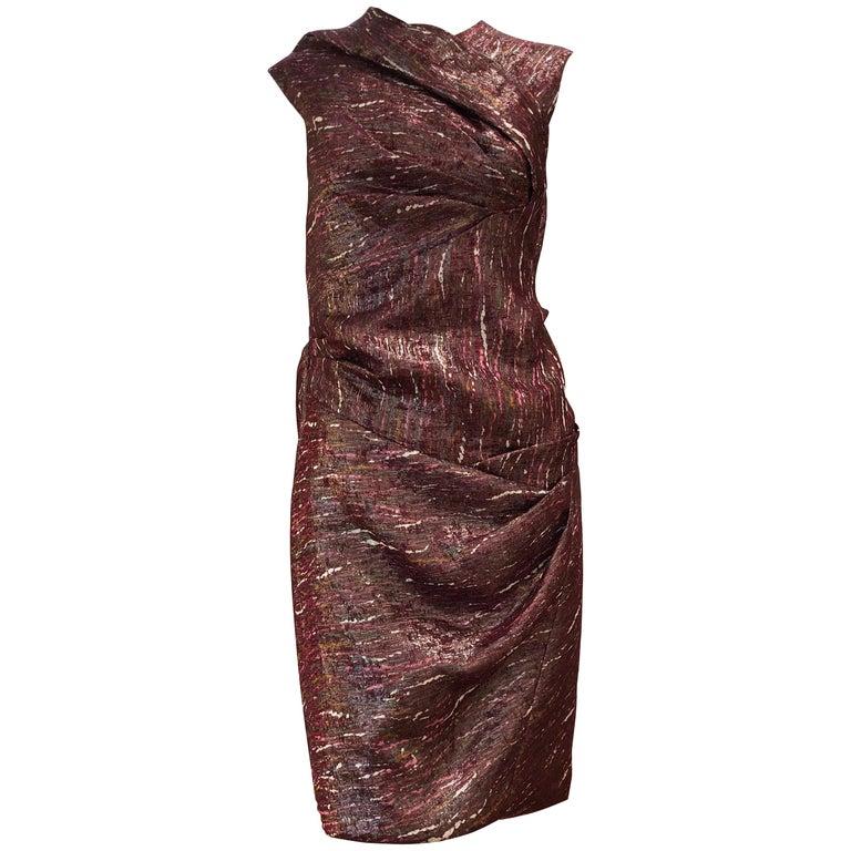 Ports 1961 Draped Shimmering Dress (2) For Sale