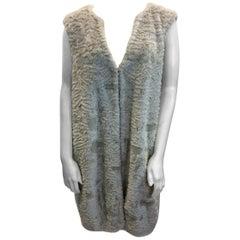 Graham & Spencer White Faux Fur Vest