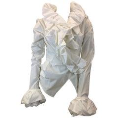 Ivan Grundahl White Ruffle Wrap Shirt
