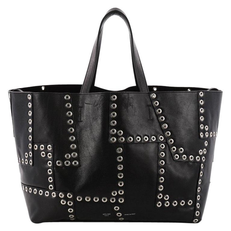 Celine Horizontal Cabas Tote Grommet Patchwork Leather Large at 1stdibs b4ef4fabad572