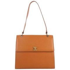 Chanel Vintage CC Flap Shoulder Bag Caviar Medium