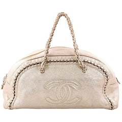 Chanel Luxe Ligne Bowler Bag Leather Large