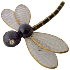 Cilea Paris Black Dragonfly Pin