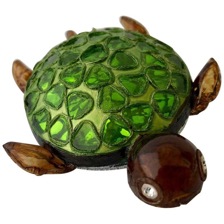 Cilea Paris Large Turtle Pin For Sale