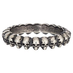 Demetri Sterling Band of Skull Ring