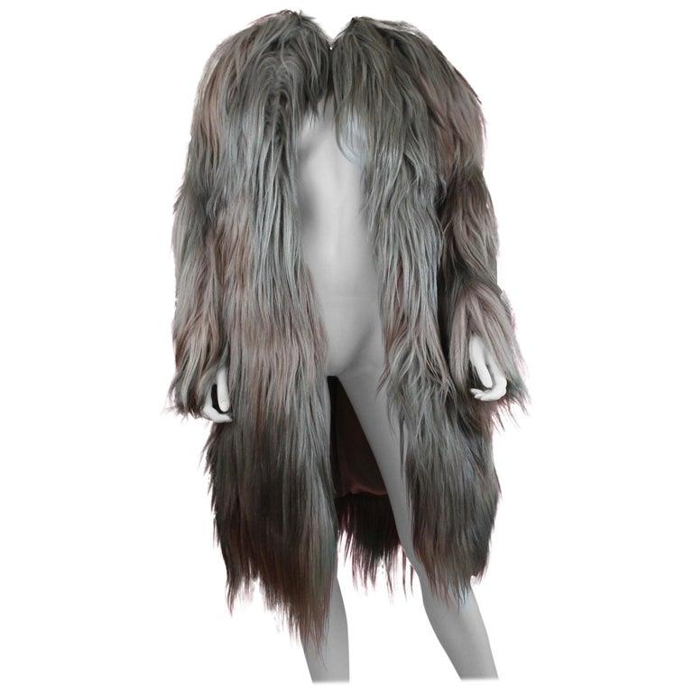 Bottega Veneta Long Hair Goat Jacket, AW 17, Size 2 US