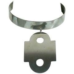 Paco Rabanne Vintage Modernist Dog Collar Necklace