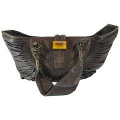 Christian Dior Pleated Leather Shoulder Bag