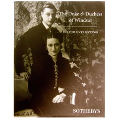 The Duke & Duchess of Windsor's Sotheby's Estate Auction Catalog Circa 1997