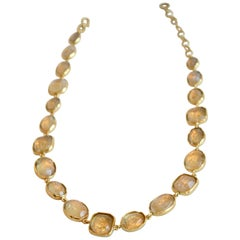 Goossens Paris Clear Rock Crystal Necklace