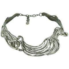Christian Lacroix Vintage Silver Toned Collar Necklace