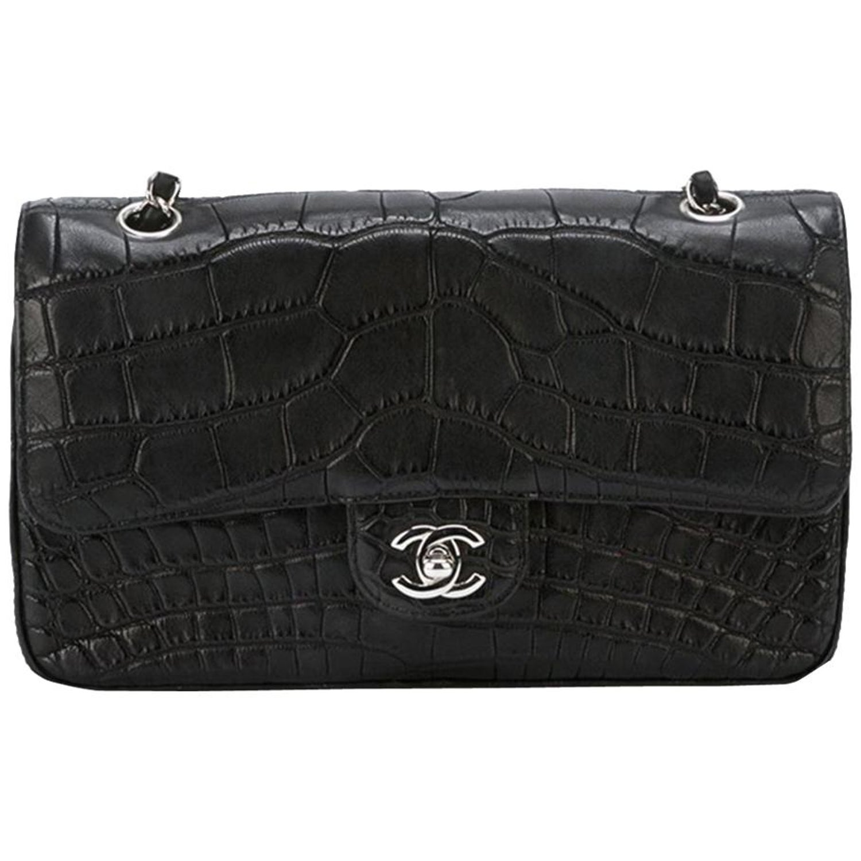 b3bb82a8262d Chanel Black Crocodile 2.55 Shoulder Bag at 1stdibs