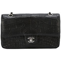 Chanel Black Crocodile 2.55 Shoulder Bag