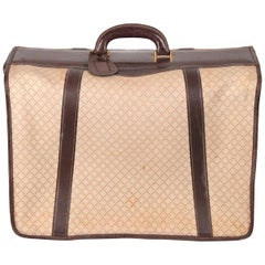 Gucci Vintage Diamante Canvas Garment Carrier Bag Travel Suit Cover