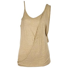 Tan Maison Martin Margiela Draped Tank Top